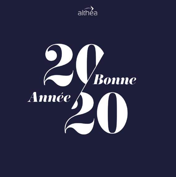 ALTHEA VOUS SOUHAITE UNE TRES BONNE ANNEE 2020
