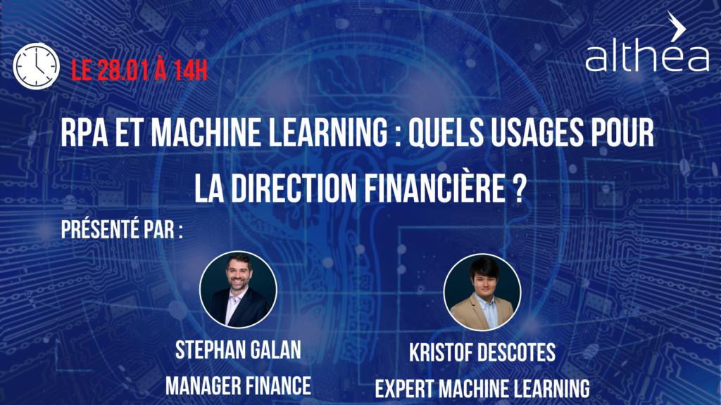 RPA et Machine Learning : Quels usages pour la Direction Financière ?